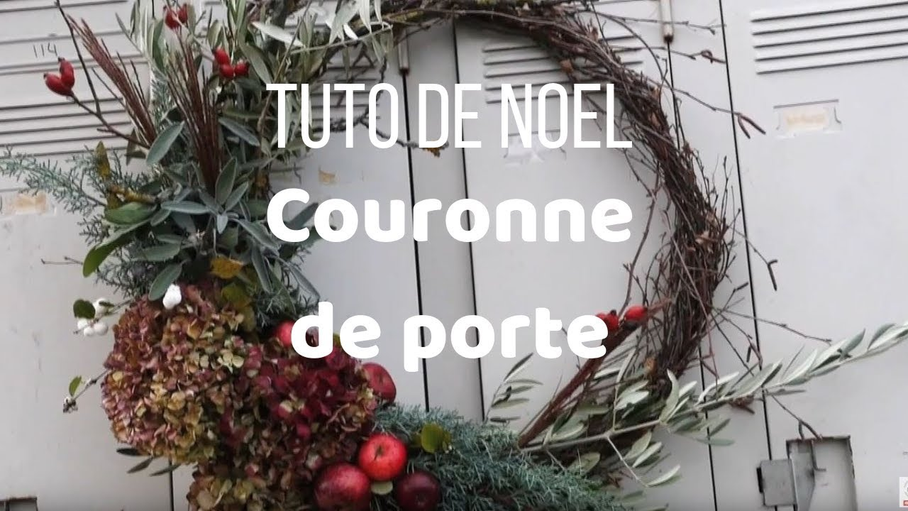 Couronne De Porte Noel Design tuto de noël - couronne de porte - gnooss tv