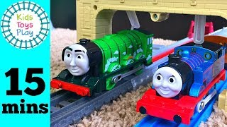 Thomas Train Tomy Trackmaster Races! | Thomas and Friends Trackmaster VS Tomy Train Races for kids