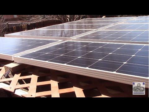 1KW Renogy Solar Panels mounted on backyard pergola - 1KW Renogy Solar Panels Mounted On Backyard Pergola - YouTube