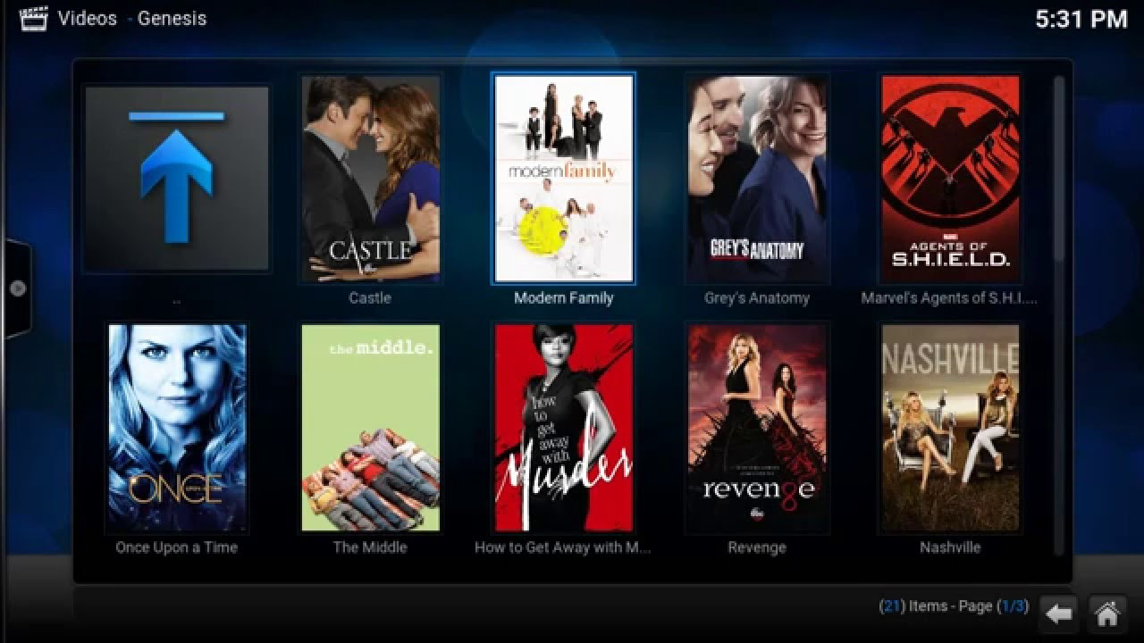 Sample of how to use genesis To Stream tv shows for free (modern ...