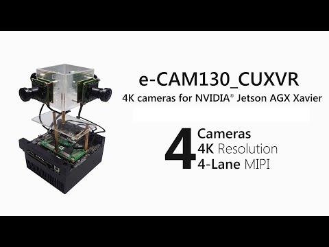 Demo : e-CAM130_CUXVR - Four Camera Board for NVIDIA Jetson