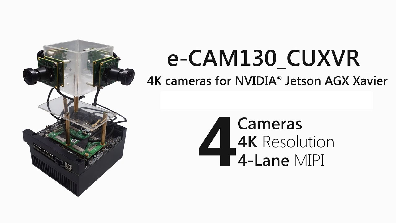 Camera kit offers up to four 4K cams driven by Jetson Xavier