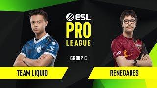CS:GO - Team Liquid vs. Renegades  [Mirage] Map 1 - Group C - ESL NA Pro League Season 10