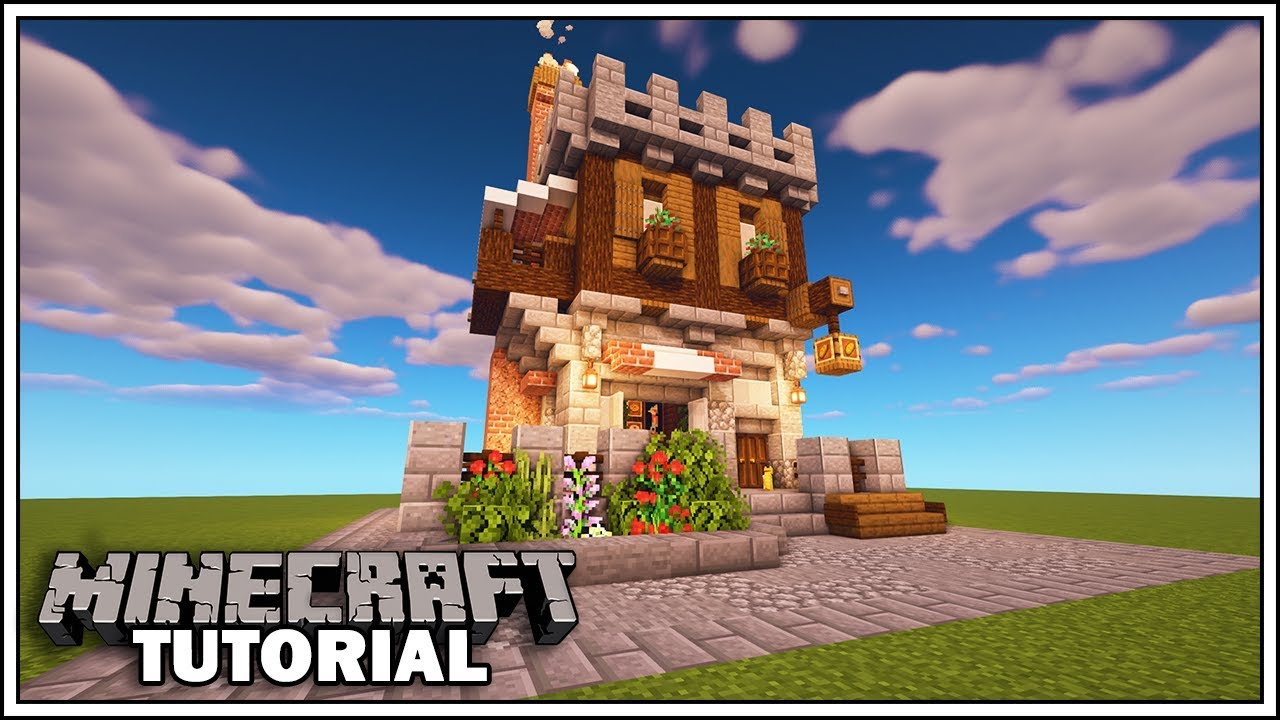 How To Build A Bakery In Minecraft Minecraft 1 14 Tutorial Youtube