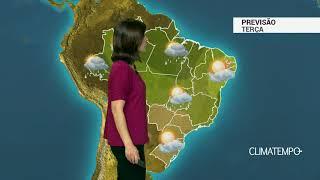Previsão Brasil – Terça quente com pancadas de chuva