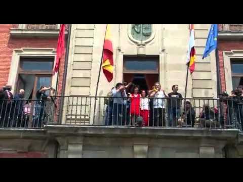 Primeras palabras de Fco Guarido Alcalde de Zamora a los zamoranos