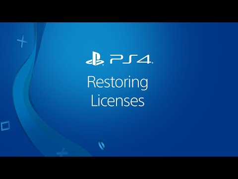 PS4 – Restore Licenses For PlayStation Store Purchases