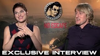 Owen Wilson and Lake Bell Interview - No Escape (HD) 2015