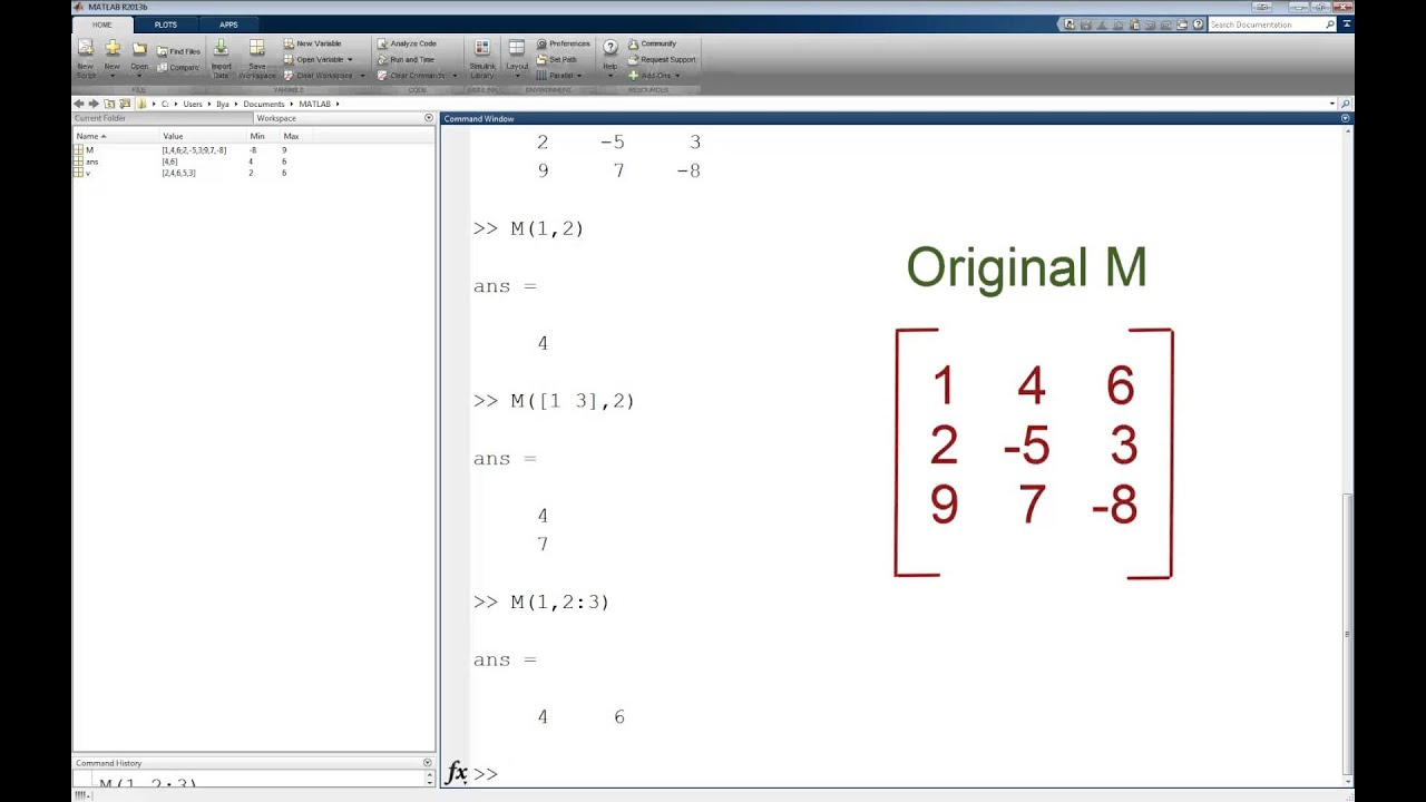 Matlab subarray tutorial youtube for Table 2 matrix matlab