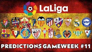 2020-2021 LA LIGA ⚽ MATCHDAY 11 PREDICTIONS