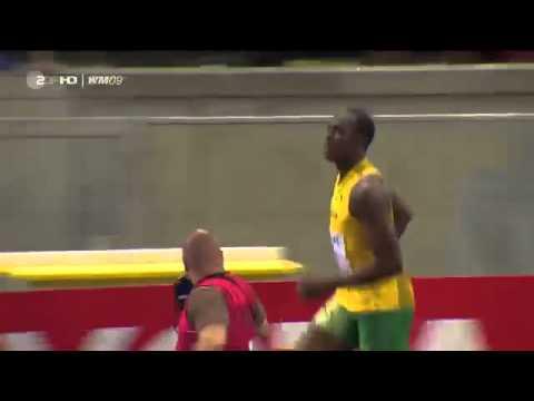 Самый быстрый человек в мире Усейн Болт 100м