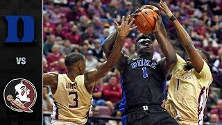 Duke vs. Florida State Basketball Highlights (2018-19)