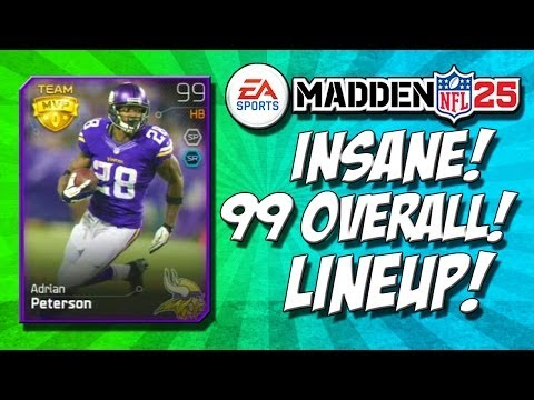 Madden 25 Ultimate Team - INSANE 99 OVERALL LINEUP! - GREATEST MUT ROSTER OUT! - MUT 25