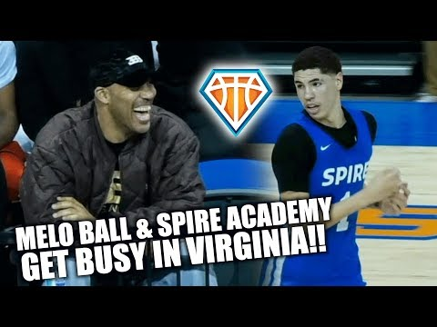Melo Ball & Spire HAD VIRGINIA TURNT UP!! Catches Nasty Putback + Drops DIMES vs Life Christian