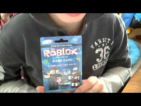 how to redem a code from the roblox card - YouTube