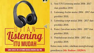 Video Listening audio Ujian Nasional UN UNKP UNBK SMA MA Bahasa Inggris 2016 2017 download MP3, 3GP, MP4, WEBM, AVI, FLV November 2017