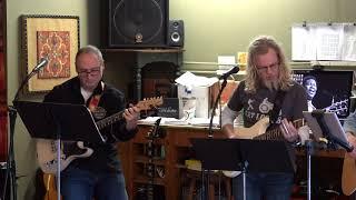 Nic Steve Bob and John Performing On The Road Again Main Street Music and Art Studio