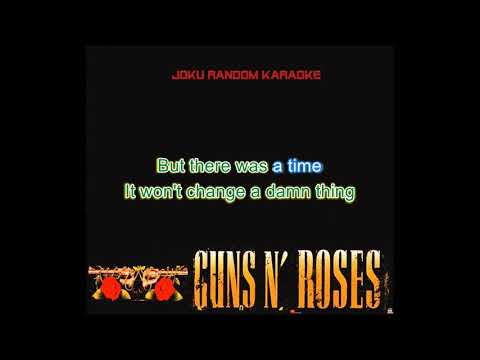Guns N' Roses - There Was A Time [Karaoke]