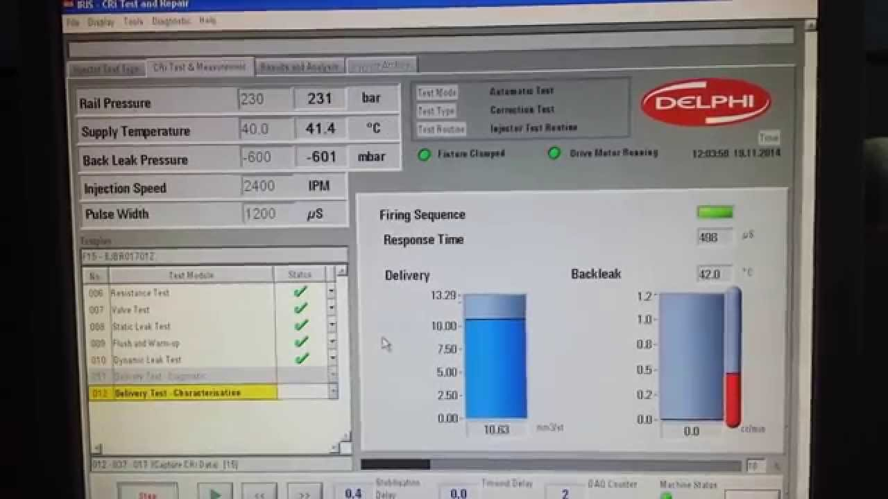 Testing delphi injector 1 5 dci