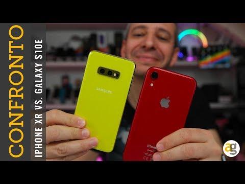 Confronto GALAXY S10e vs  iPHONE XR