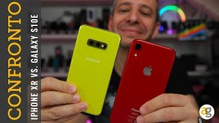 Confronto GALAXY S10e vs  iPHONE XR