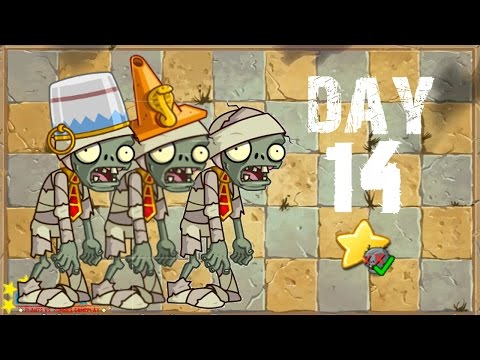 Plants vs. Zombies 2 China - Ancient Egypt Day 14《植物大战僵尸2》- 神秘埃及 14天 - 동영상
