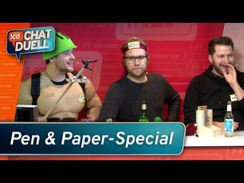 Chat Duell #4   Pen & Paper Special: Spitze Stifte gegen Animal Squad