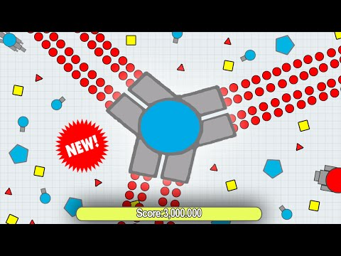 Diep.io - HACKED DIEPIO GAMEPLAY? // NEW WORLD RECORD! +3,000,000 MILLION SCORE | BEST TRIPLE TANK