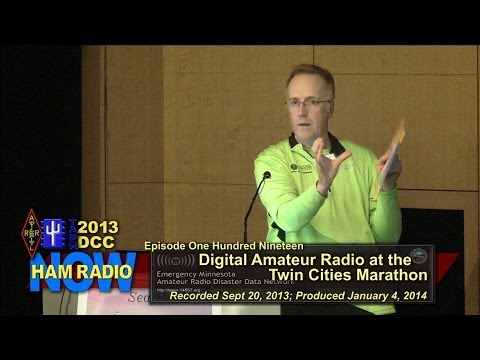 Episode 119 from the DCC: Digital Amateur Radio at the Twin Cities Marathon