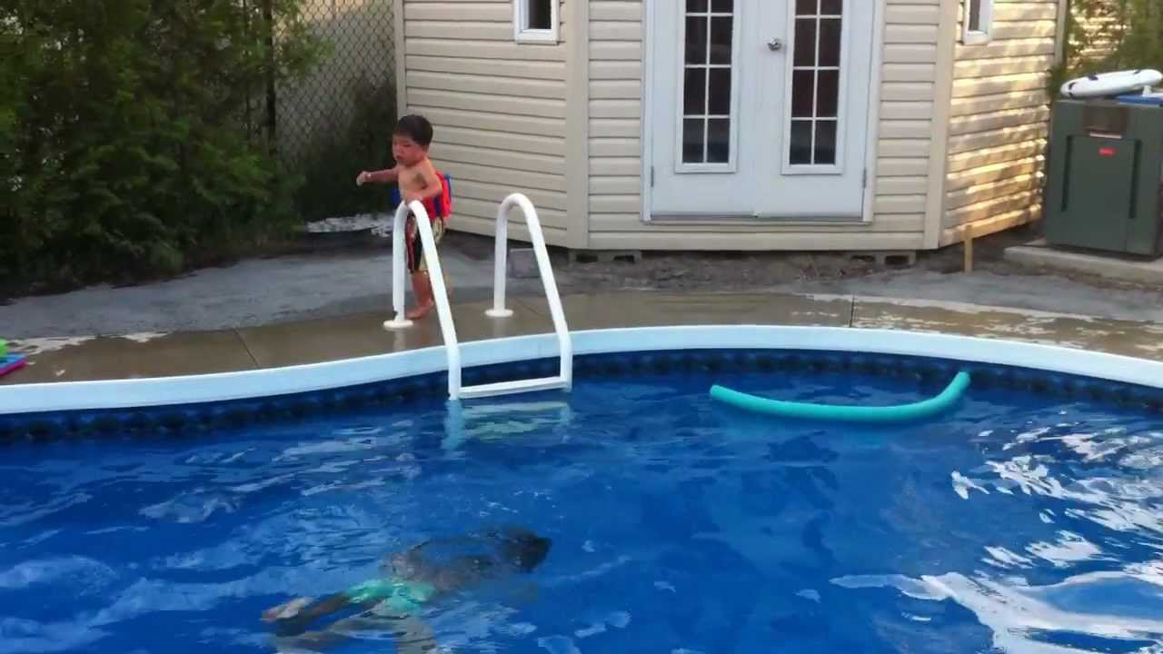 kids in the pool at the backyard trim youtube