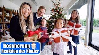 Geschenke auspacken 😍 Reaktion der Kinder! Bescherung Heiligabend Weihnachten 2019 | Mamiseelen