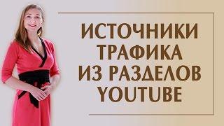 Источники трафика YouTube. Разделы YouTube, в которых можно смотреть видео