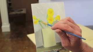 Art Lesson #21- Intro to Painting, Class 9, Daffodils and Vase