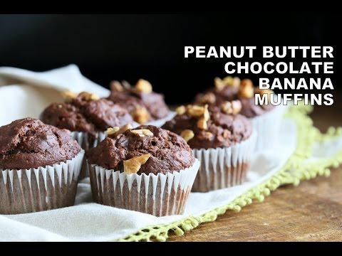 Peanut Butter Chocolate Banana Muffins 1 Bowl – VeganRicha.com