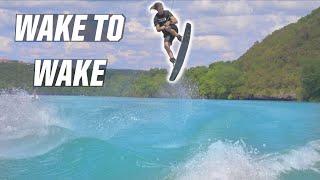 HOW TO JUMP WĄKE TO WAKE - WAKEBOARDING - BOAT
