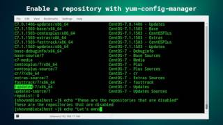 Enable Repository From The Command Line On Centos