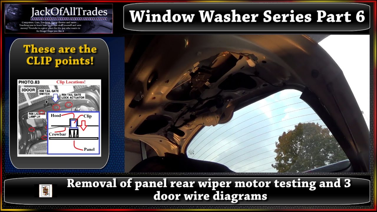2009 Hyundai Accent Window Washer Series Part 6 Rear Wiper Motor 2004 Santa Fe Wiring Diagram Testing And Wire Diagrams 720phd