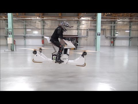 Russian startup company Hoversurf Debuts it's hoverbike prototype scorpion-3