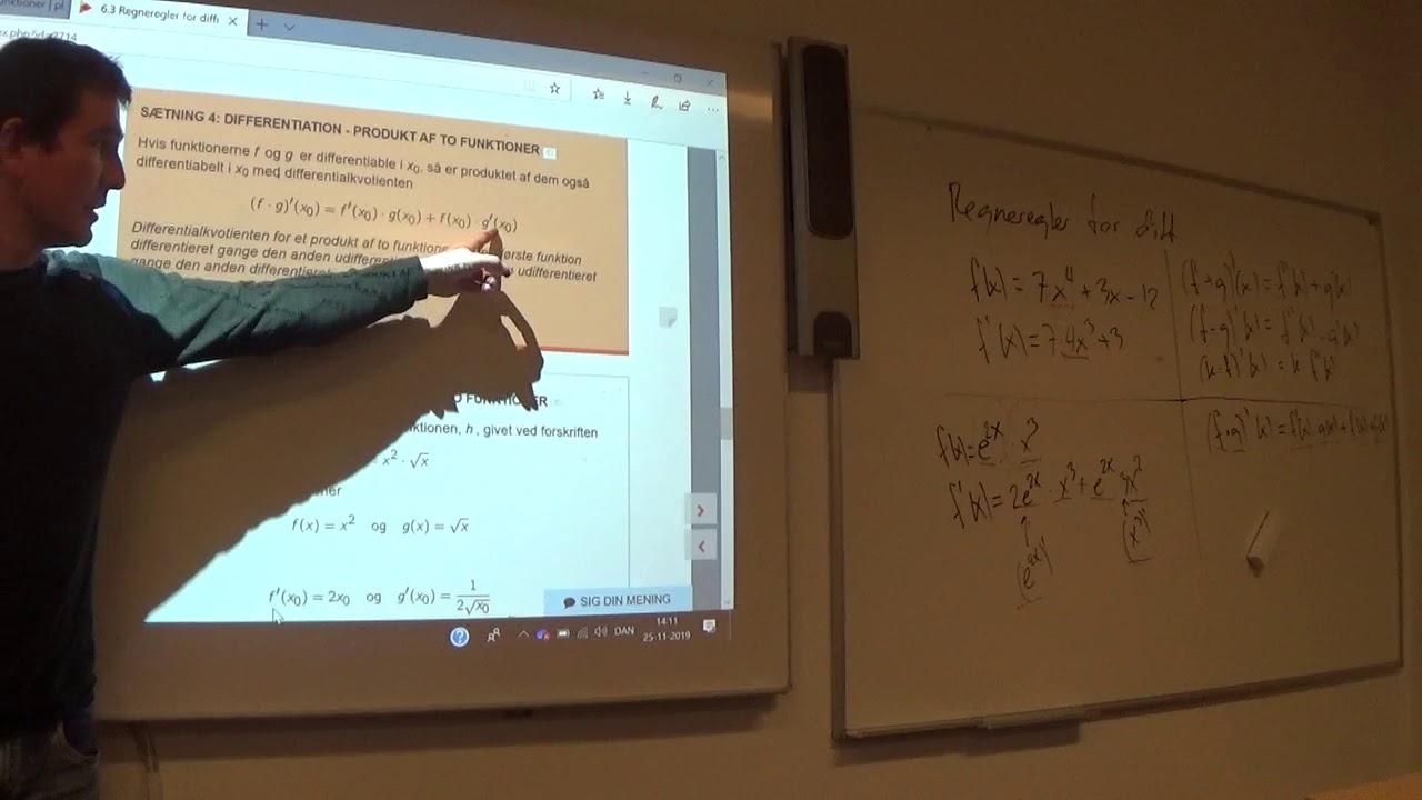 Mat B 6.3c Differentiation regneregler oversigt