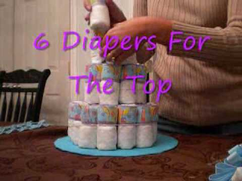 How To Make An Easy Diaper Cake