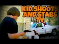 WILLIAM GOES PSYCHO AND SHOOTS UP AND STABS TV OVER XBOX!!!
