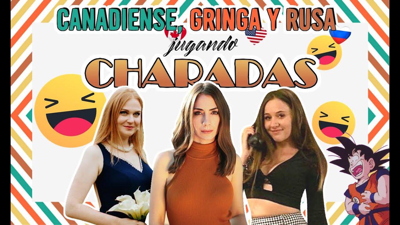 EXTRANJERAS jugando CHARADAS en ESPAÑOL | MATE DE RISA ! (Veronique Angers, Angela Rose & Elya Russ)