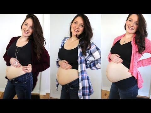 pregnancy-transformation-/-second-trimester-belly-progression
