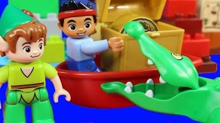 Lego Duplo Jake And The Never Land Pirates Peter Pan's Visit Alligator Attack Stop Motion