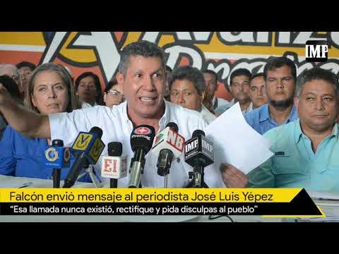 Falcón A José Luis Yépez: Esa Llamada Nunca Existió, Rectifique Y Pida Disculpas #21Oct
