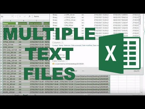 How to import multiple text files into excel