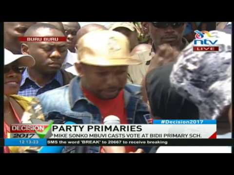 Mike Sonko addresses media; claims his and names of his supporters missing