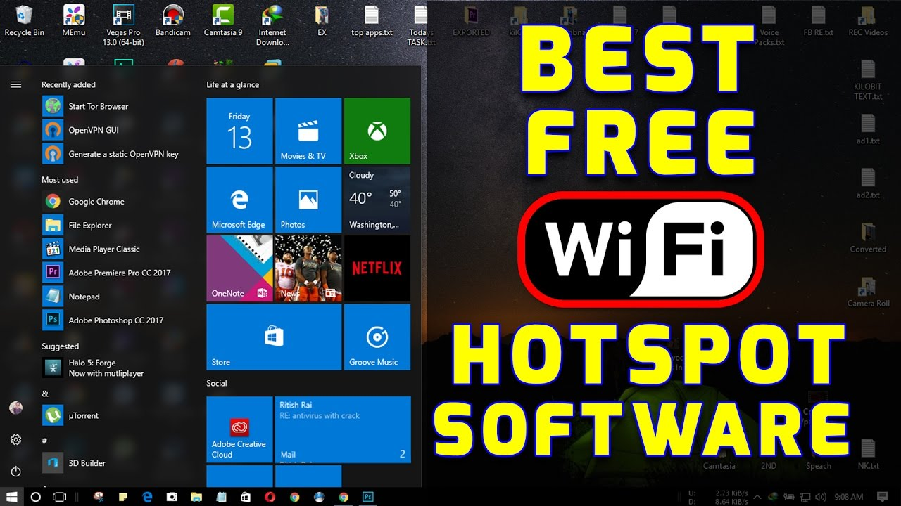 Best FREE Wifi Hotspot Software Specially For WINDOWS 10