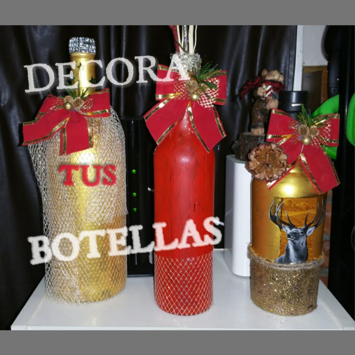 C mo decorar botellas para navidad youtube - Como decorar botellas de vidrio ...