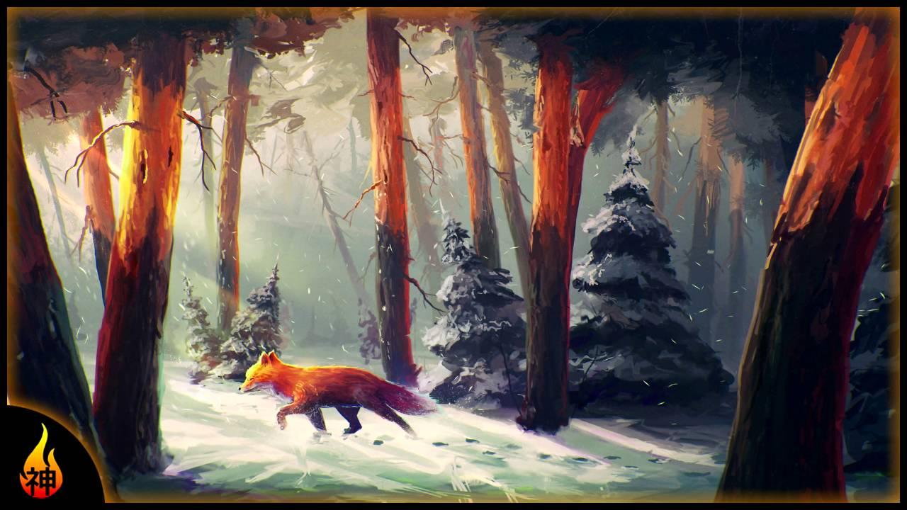 1 Hour Beautiful Piano Music Winter Woods Relax